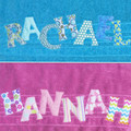 Personalised Sheridan towels in white.  A very special gift.
