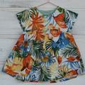 Cotton / linen summer dress / tropical dress / girls clothes