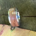 Grey Iron Bark Veneer with Copper wire trim ring & Stainless Steel insert.