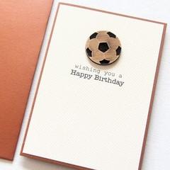 Personalised Birthday Soccer card, Handmade Football Card, Card for Him