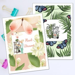 Jasmine and Palms Printable