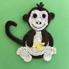 Monkey Crochet Applique