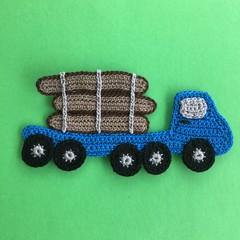 Log Truck Crochet Applique
