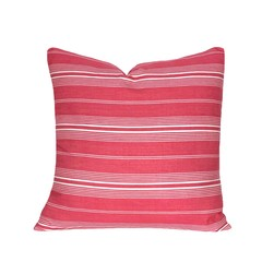 Ticking Striped Pillow Cover. Pink Decor.