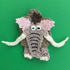 Woolly Mammoth Crochet Applique