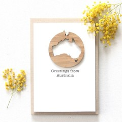 Australia removable decoration card