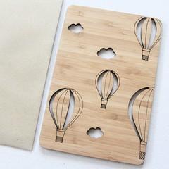 Hot Air Balloons Card, Bamboo Card, Birthday Card, Father's Day Card