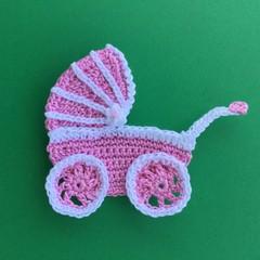 Pram Crochet Applique