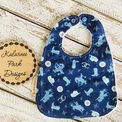 """Rodeo"" Cotton Bib Buy 3 bibs get the 4th free and free post"