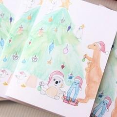 4 Australia Christmas Cards Junior Artist Australiana Souvenir