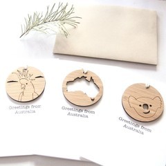 Australia Souvenir Card, 4 Designs, Removable Decoration, Australian Made Gift