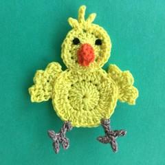 Chicken Crochet Applique