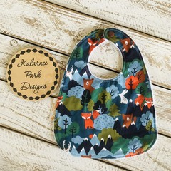 """Peekaboo Woodland""Cotton Bib Buy 3 bibs get the 4th free and free post"