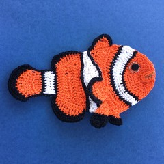 Clown Fish Crochet Applique