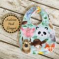 """Farm Faces"" Cotton Bib Buy 3 bibs get the 4th free and free postFree Post"