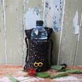 Madeit for Firefighters Yellow Sunglasses Crochet Water Bottle Carrier / Bag