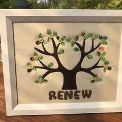Madeit for Firefighters - Framed fabric art tree