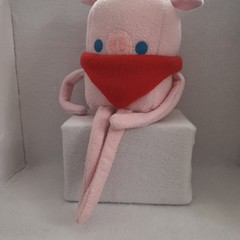 Little Loafer Penn The Cowboy Pig Plush Toy, kids gift, collectable