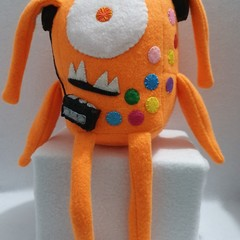 Little Loafer Ferris The Orange 80s Monster Plush Toy, kids gift, collectable