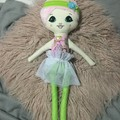 Ray of hope doll - princess print with lime green