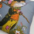 Vintage Retro  - Cute Hobo Mouse  - Cushion