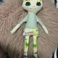 Ray of hope doll - boy with yellow dinosaurs print and yellow hair