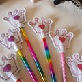 """""""Pencil Toppers"""" with pencil."""