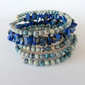 Larimar Lapis Lazuli Wrap Bracelet