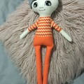 Ray of hope doll - boy with orange zigzags and blue hair