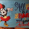 """""""Dancing Minnie"""" Reading/Pocket Cushion  (cover only)"""