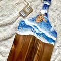 Resin Ocean Board with Hand Painted Turtle