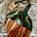 Green, Black and Gold Resin Board