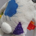 FREE POSTAGE Little Flatterz Polar Bear, Large Baby Plush Tag Toy, collectable