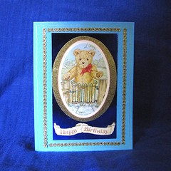 'Teddy Bear at the Gate' Child's Birthday Card