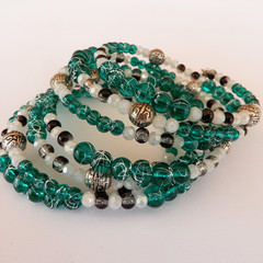 Mostly green wrap bracelet
