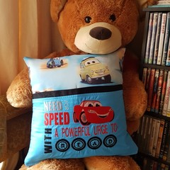 """Need for Speed"" Reading/Pocket Cushion  (cover only)"