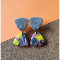 Bright Galaxy Dangle Earrings