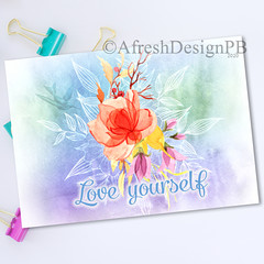 Softly Summer Love yourself Printable