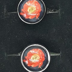 Pure Poppy cufflinks