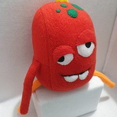 Little Loafer Derpy Dave The Red Monster Plush Toy, kids gift, collectable