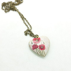 Poppy Heart Locket