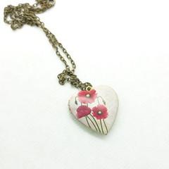 Poppy Heart Locket