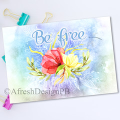Softly Summer Be free Printable