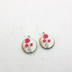 Antique Poppy dangle