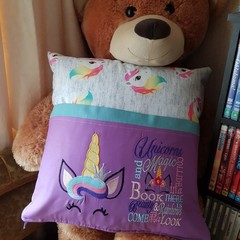 """Unicorn Princess"" Reading/Pocket Cushion  (cover only)"