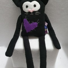 Little Flatterz Cat, Small Baby Plush Tag Toy, kids gift, collectable