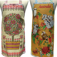 Metro Retro TOPIARY PLANT in POT or AUSTRALIA  Apron - CHOOSE ONE