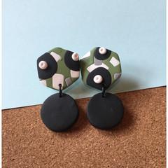 Camo Dangle Earrings