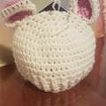 Newborn crochet bear beanie