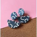 Blue Smiles Dangle Earrings